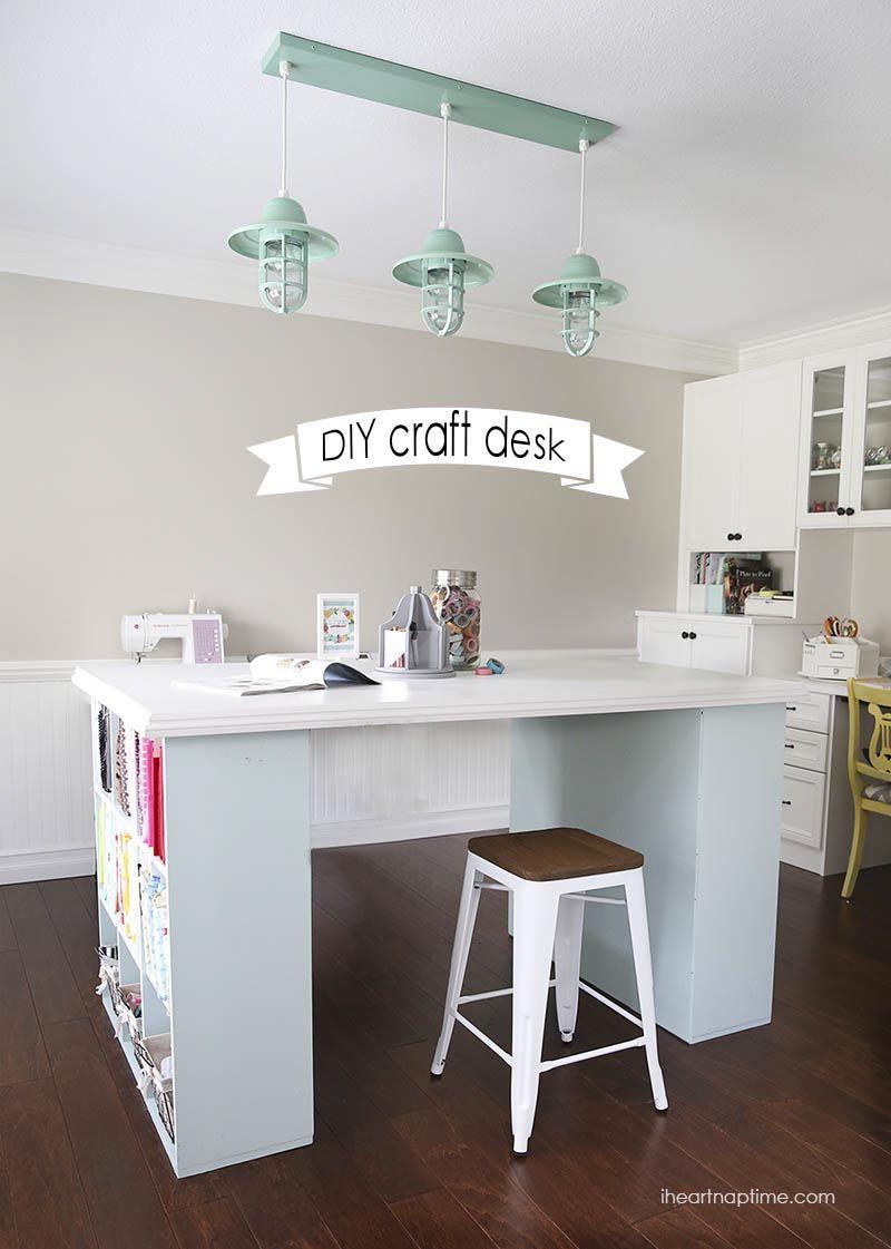 Nap Time Studio Update Diy Craft Room Desk Craft Room Desk