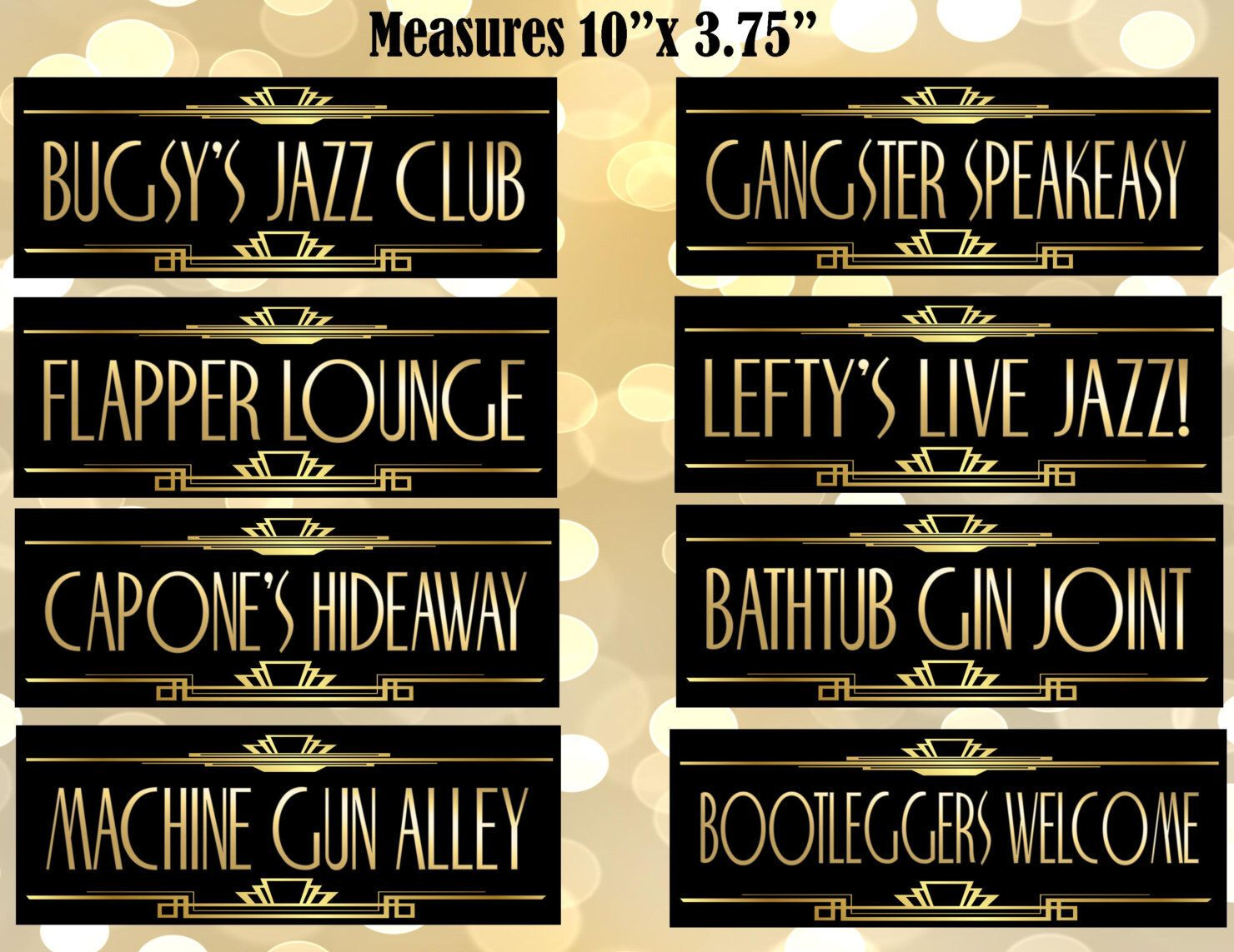 Art deco backdrop for photos wall decor party decoration 1920 s - Printable Gangster Street Sign Gatsby Party Decoration Roaring 20s Art Deco Wedding Sign Wedding Decor Dollfaces Old Sport Flapper Party1920s