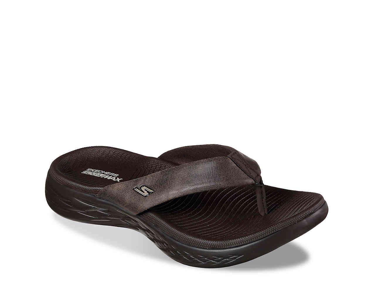Skechers On The Go 600 Polished Flip Flop Women S Shoes Dsw