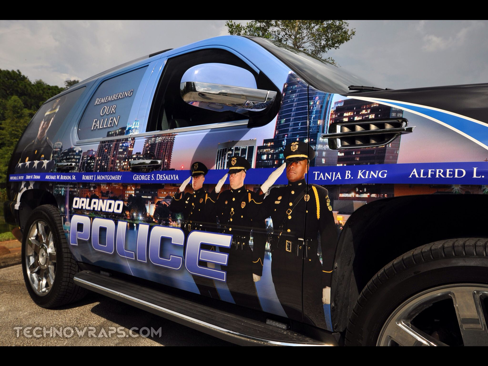 Custom designed police vehicle wrap by TechnoSigns in