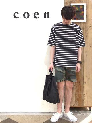 coen鹿児島店 coen 前田さんの バスクビッグシルエットt coen コーエン を使ったコーディネート 夏服 ファッションアイデア ファッション