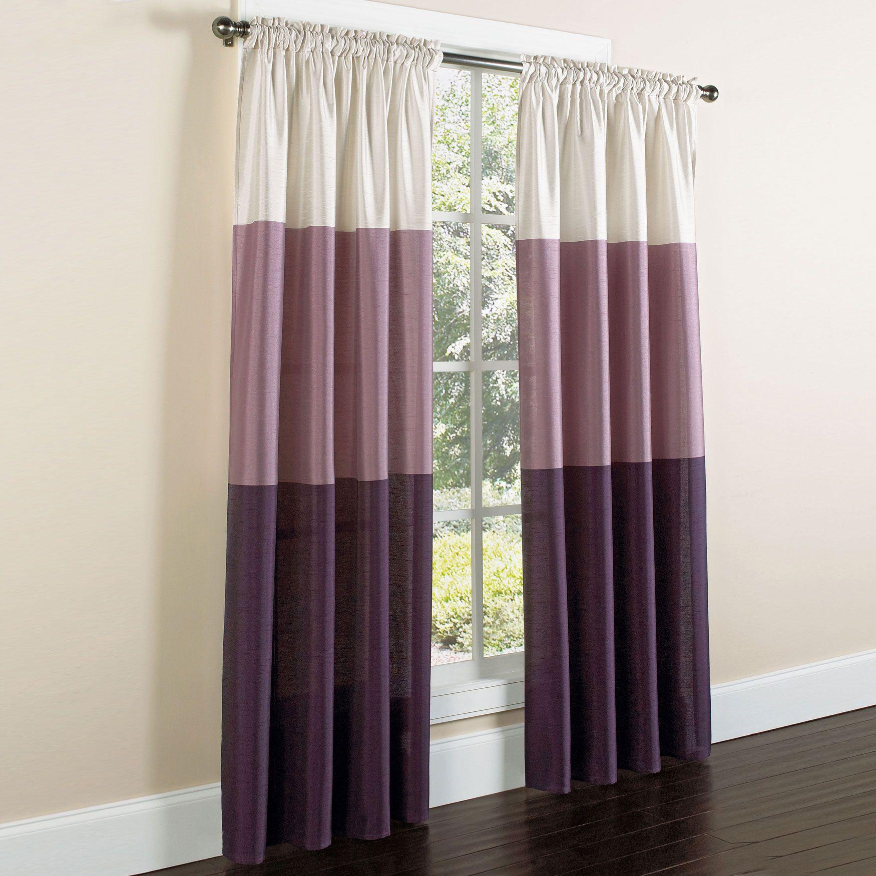 Triad Faux Silk Rod Pocket Panel Curtains Drapes Brylanehome