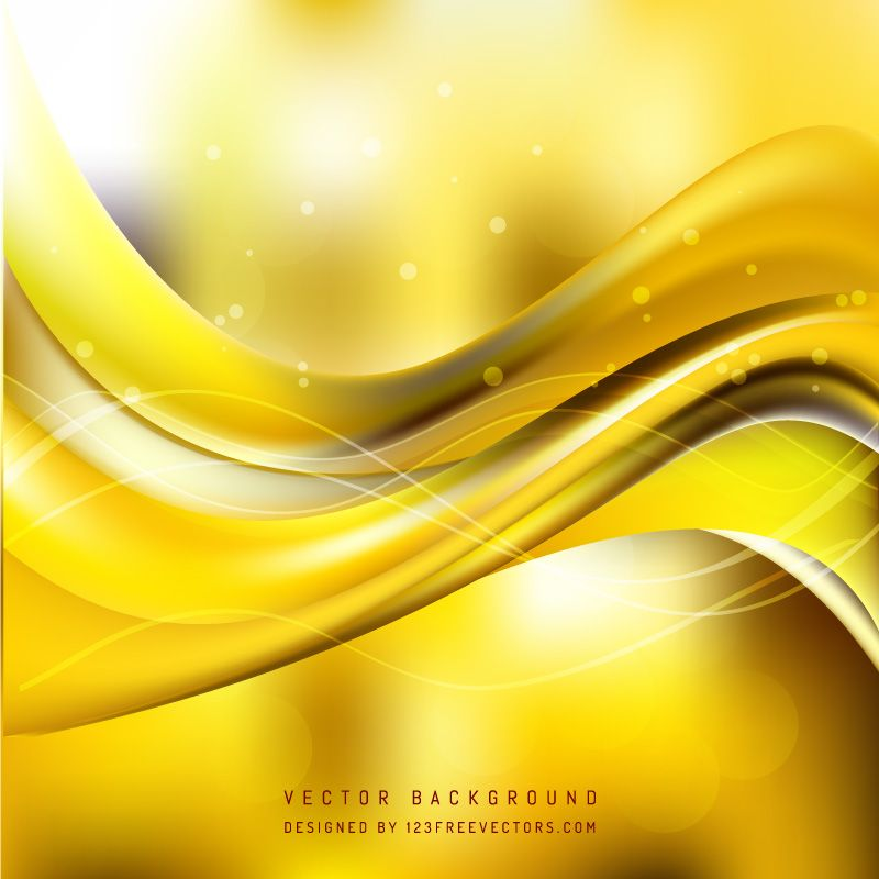 Yellow Wave Background Waves Background Background Free Vector Backgrounds