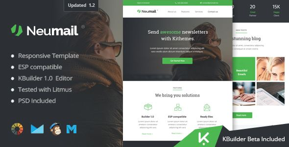 Neumail  Responsive Email Template  Kbuilder   Responsive