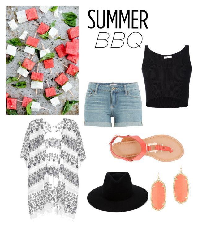 """""""Untitled #43"""" by mcounts-1 on Polyvore featuring Paige Denim, 321, Velvet, Bamboo, rag & bone, Kendra Scott and summerbbq"""