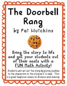 the doorbell rang math activity using literature cookie pictures teacher notes and book. Black Bedroom Furniture Sets. Home Design Ideas