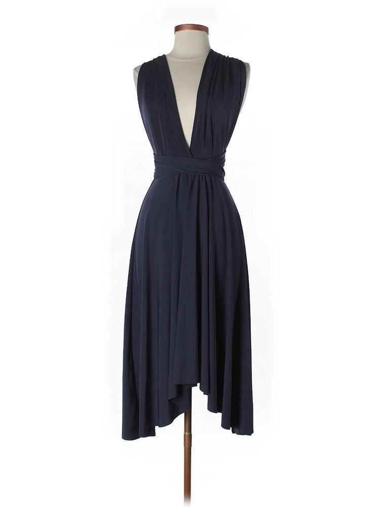 Victoria S Secret Moda International Blue Convertible Dress Xs Victoriecret