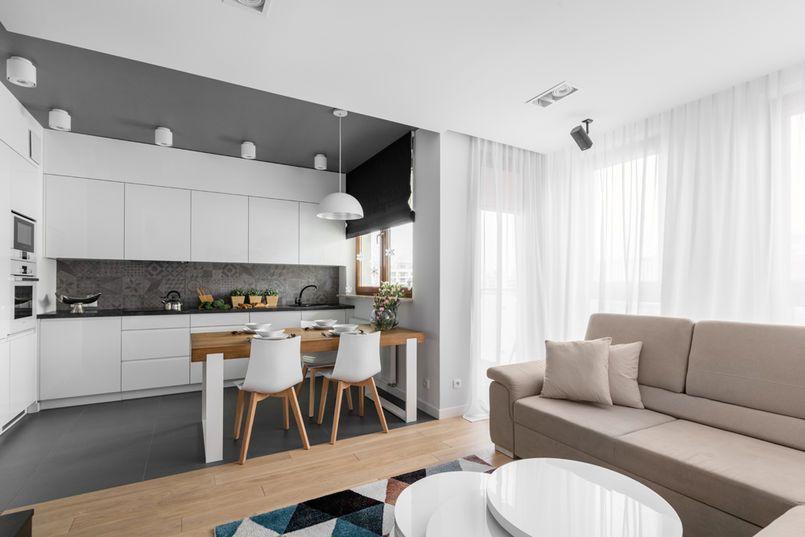 Salon Z Aneksem Kuchennym Kuchnia W 2019 Ustawienie
