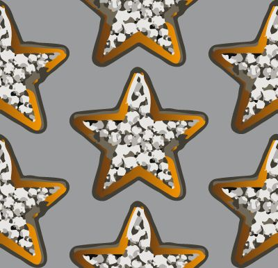 Pattern with golden stars on grey background, available on patterndesigns.com
