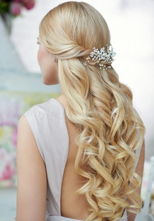 hairstyles half up and half down for a wedding | Hair | Pinterest ...