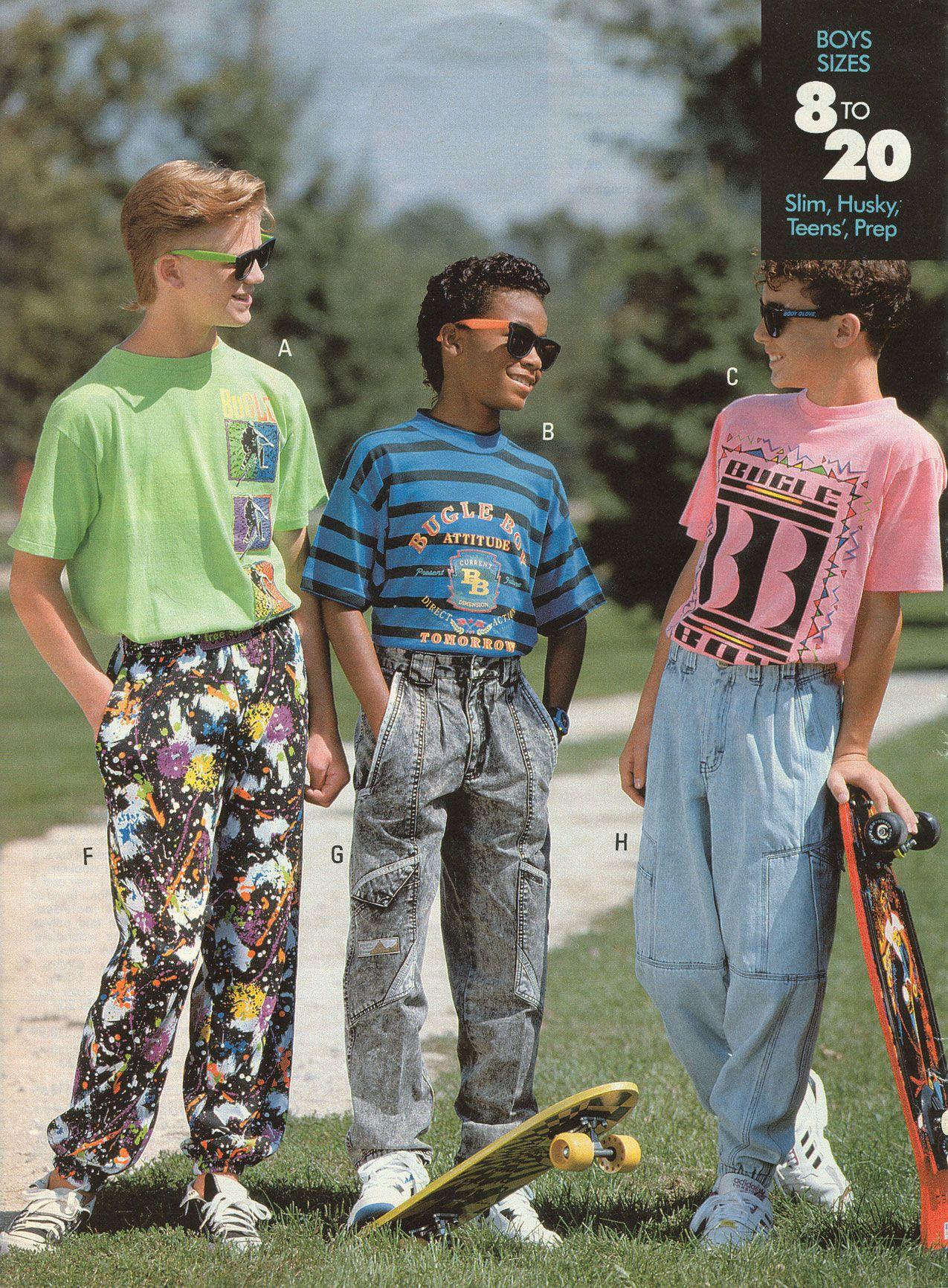 Bugle Boy — No one was safe from 80s fashion!------I m pretty sure this was  my hubs back in the day 523c0120961