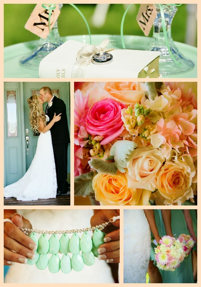 Blush And Seafoam Green Our Wedding Colors