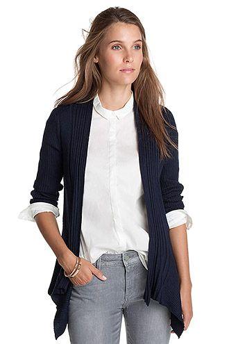 Esprit / Ribbet strik-cardigan