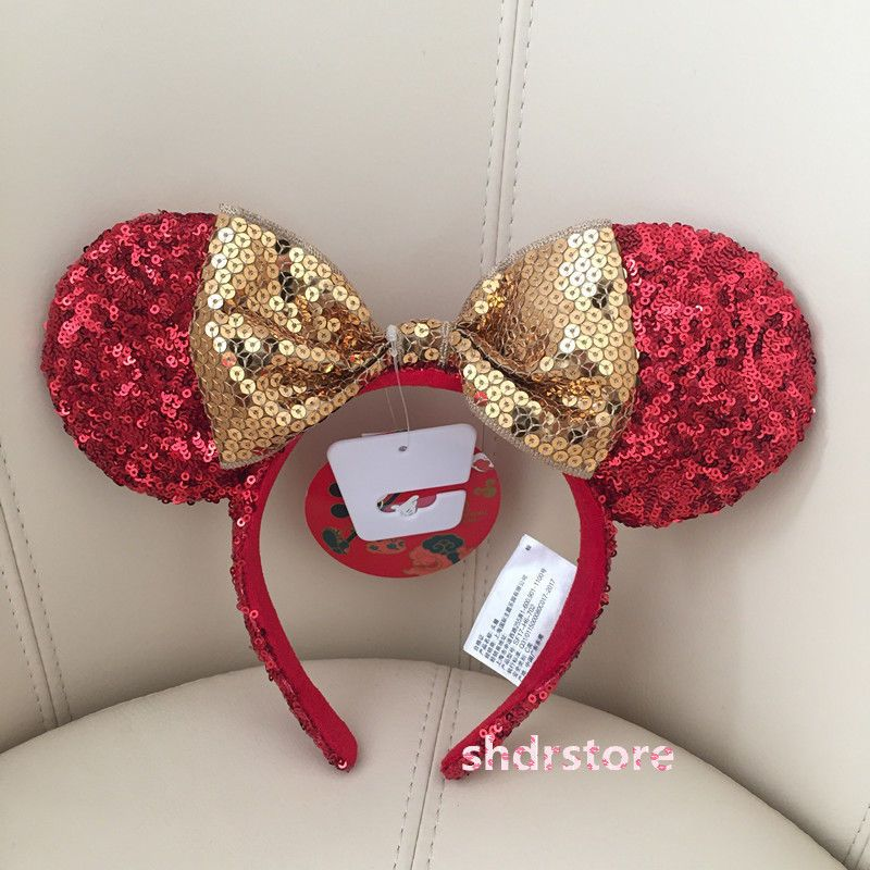 870efbcfdf5987 Shdr Minnie Mouse Ear Year Limited Headband Shanghai Disneyland Disney Park