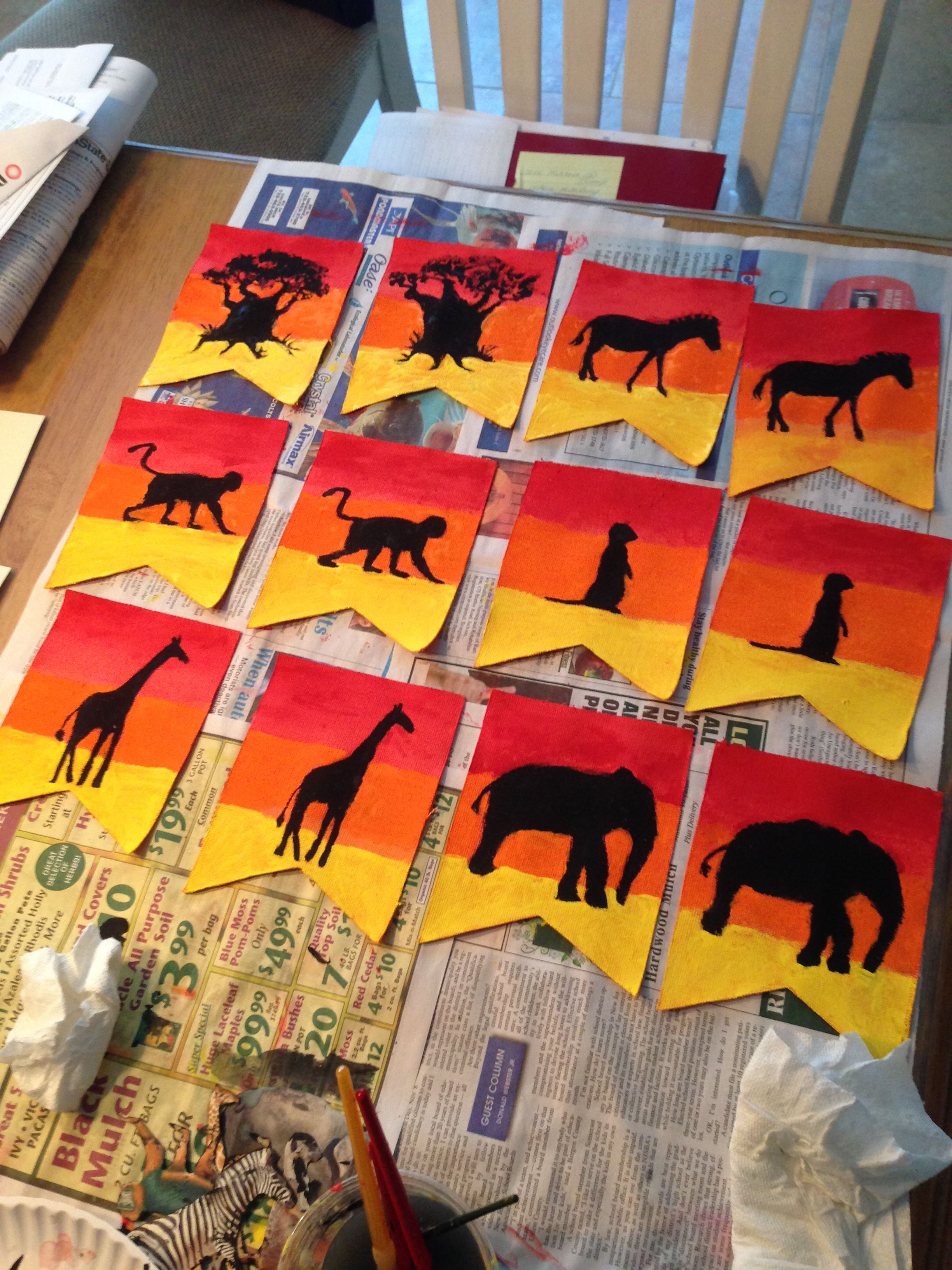 African Animals Sunset Banner Made With Supplies From