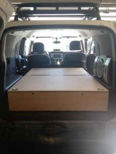 Rear Storage Box Sleeping Platform Without Removal Of