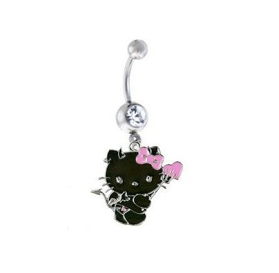 Hello Kitty Black Devil Sexy Belly Ring On Etsy 12 99 Piercings