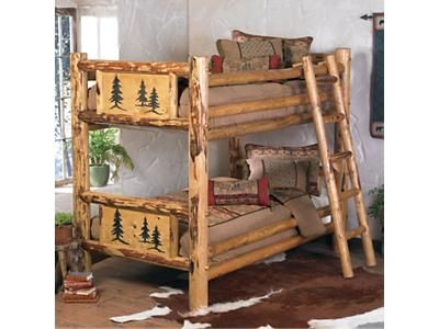 Rocky Mountain Log Bunk Bed Twin Over Twin Log Bunk Beds