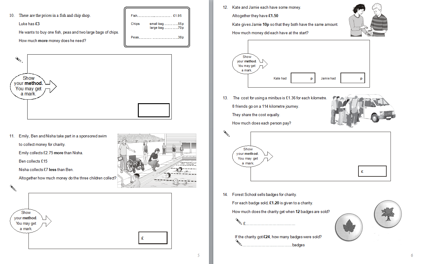 worksheet Sats Worksheets Ks2 year 6 maths sats questions a selection of math grouped together to save time