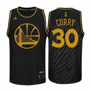 Golden State Warriors adidas Stephen Curry  30 Precious Metal Swingman  Jersey - Black 1a07a89c9