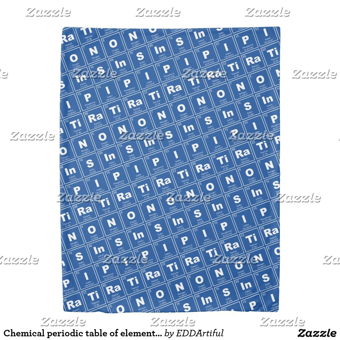 Chemical periodic table of elements inspiration duvet cover chemical periodic table of elements inspiration duvet cover urtaz Gallery