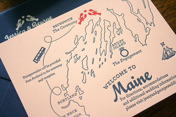 1x1 Trans Jessica Georges Travel Inspired Maine Wedding Invitations By Parrot Design Studio