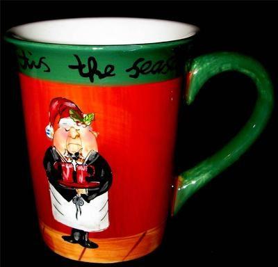 Certified International Tracy Flickinger TIS THE SEASON Mug Cup Waiter Christmas