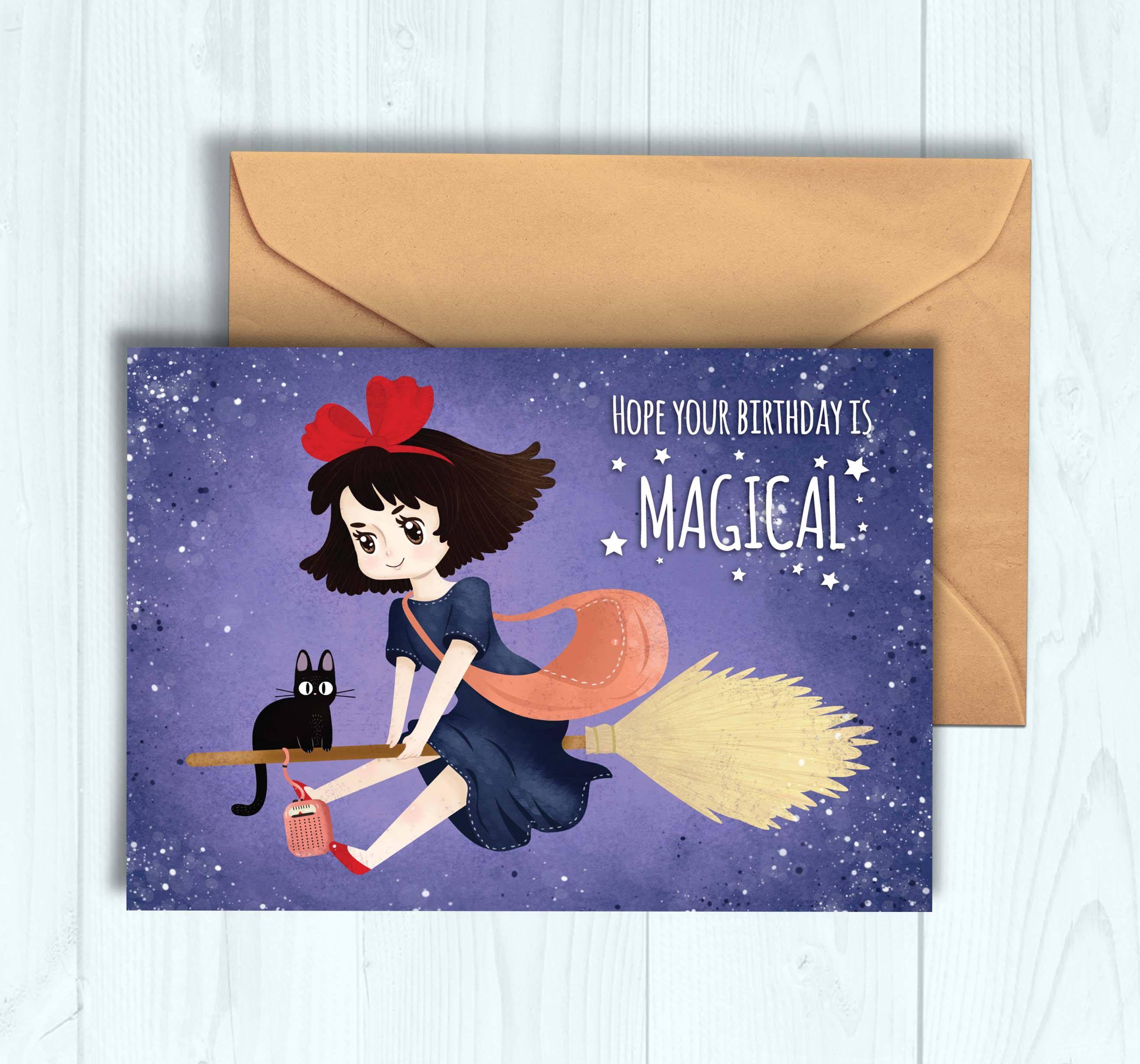 Kiki S Delivery Service Birthday Card Etsy Birthday Cards Cards Card Envelopes