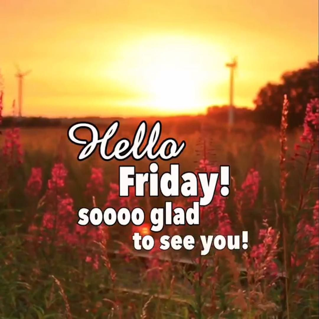 Who else is glad it's F-R-I-D-A-Y? Have a fantastic day!!