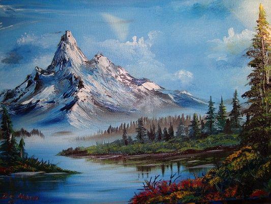 Imagenes De Paisajes Para Pintar Al Oleo Para Decorar Montaña En