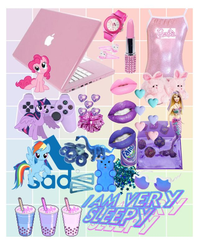 PinkPurpleBlue by hedybird on Polyvore featuring polyvore, fashion, style, Mystique, 202 Factory, Charlotte Olympia, Hello Kitty, River Island, Nemesis, Mattel and My Little Pony