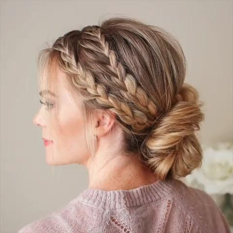 #Make Yourself  #Easy Diy Hairstyle with Video Tutorial #there's #another Triple cuz there's another braid on the other side ? Tag a friend that'd love this elegant hairstyle!