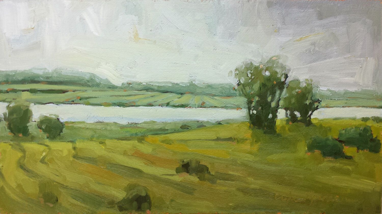 River View   Original Landscape Oil Painting   6.5 x 11.5 by erinspencer on Etsy https://www.etsy.com/listing/248388350/river-view-original-landscape-oil