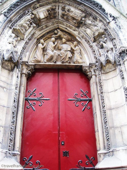Notre Dame Cathedral Porte Rouge Red Door A Masterpiece Of