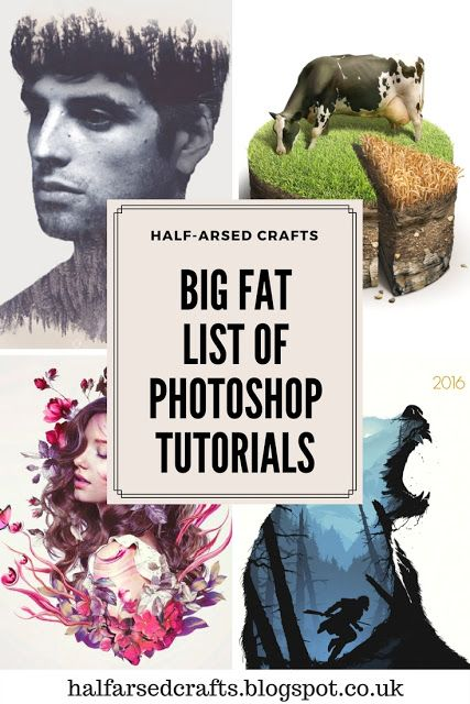 Half-Arsed Crafts: The Big Fat List of Photoshop Tutorials