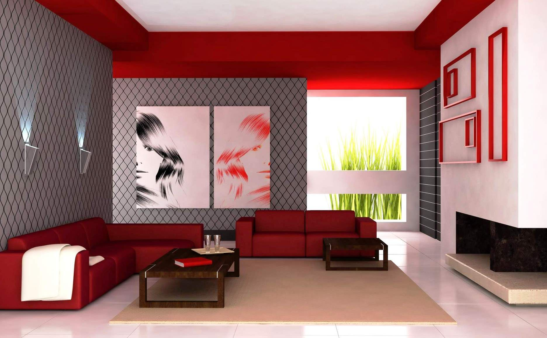 Gray And Red Living Room Interior Design Salon Waiting Area  Google Search  Cinema Room  Pinterest