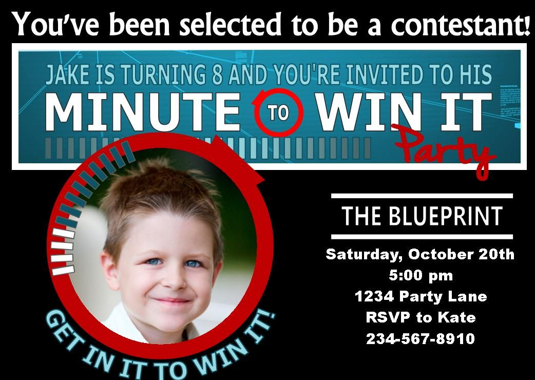 Minute To Win It Party Supplies Printables And