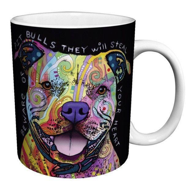 Colorful Pitbull Coffee Mug Gifts For