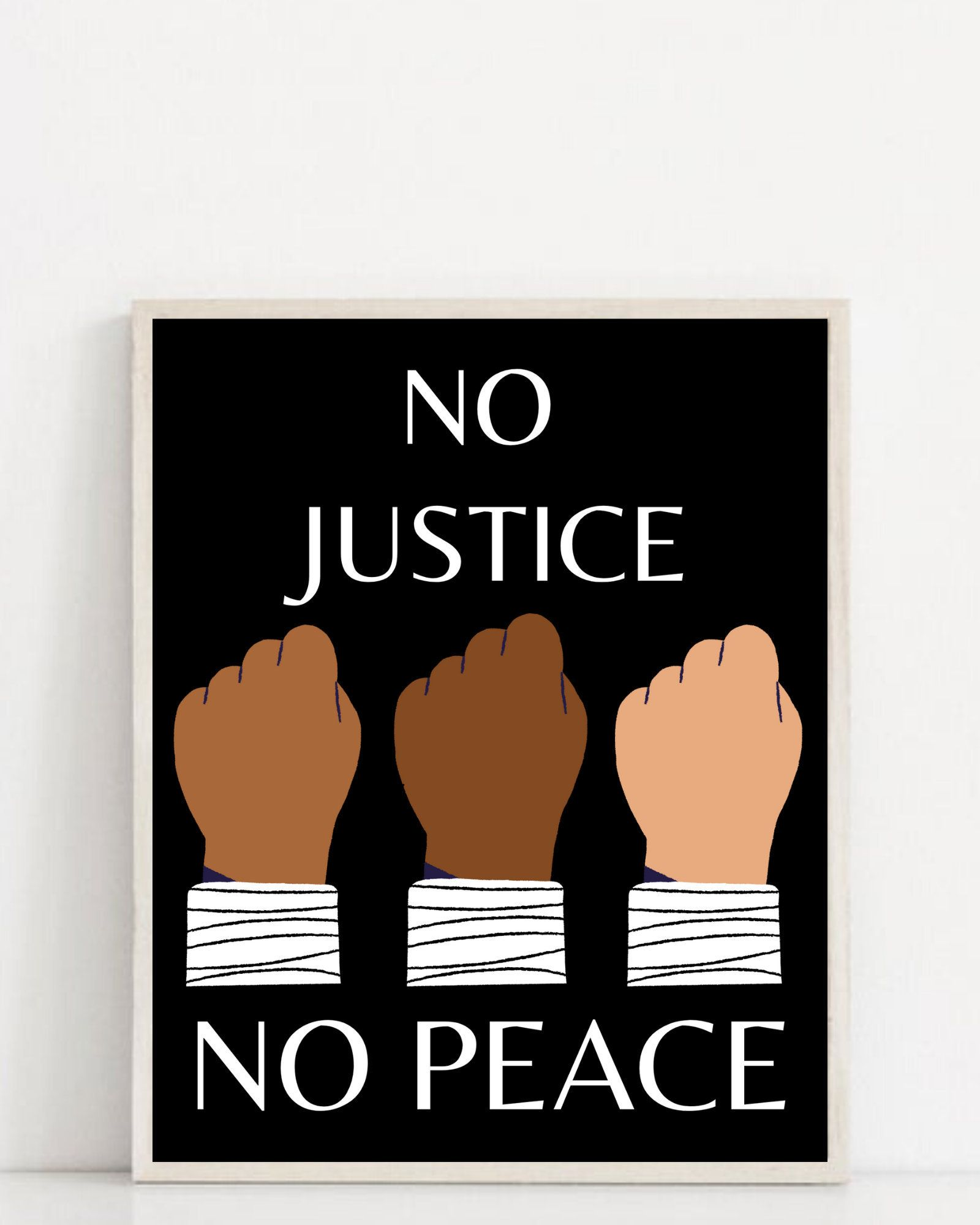 No Justice No Peace Protest Poster Black Lives Matter Protest Sign Blm Justice For Black Lives Justice For George Floyd Breonna Taylor Protest Posters Black Lives Matter Protest Black Lives Matter