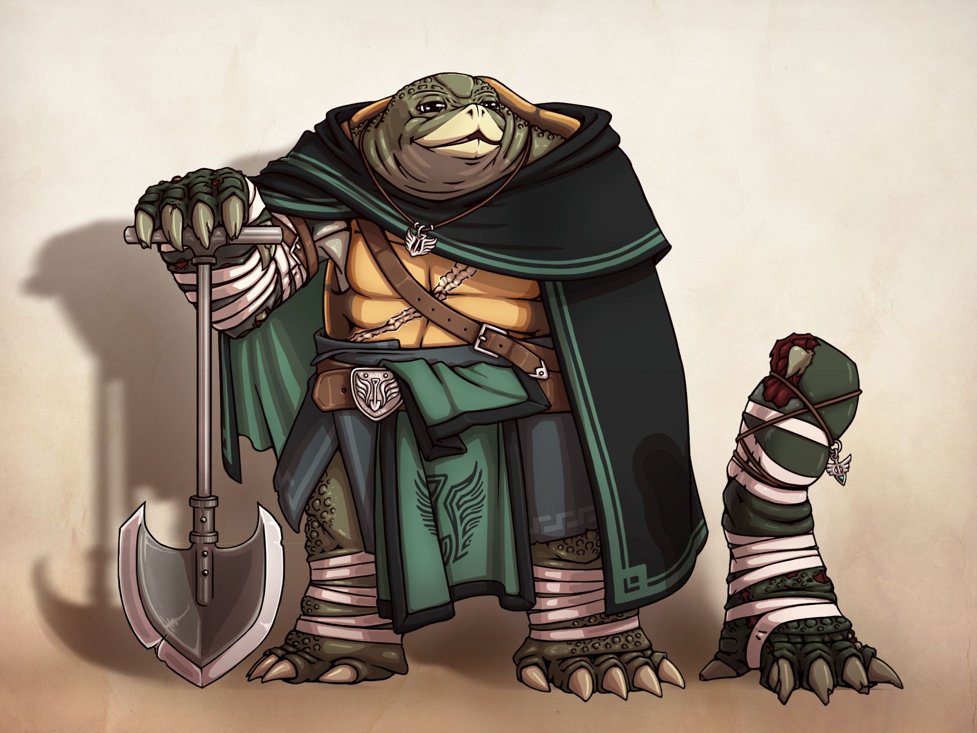 Tortle Grave Cleric   Character Art in 2019   Dungeons