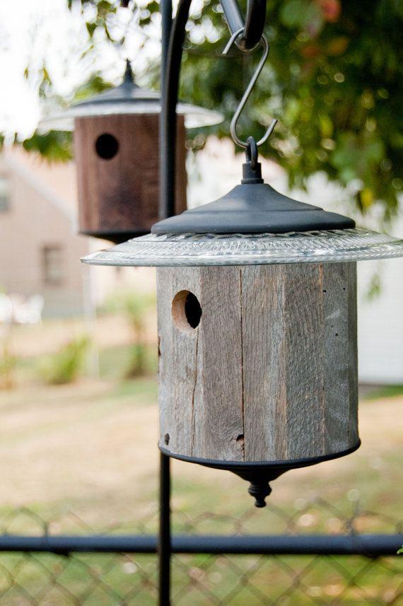 Rustic Birdhouse Gray Round Outdoor Birdhouse