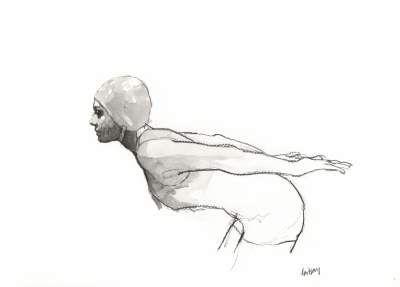 pencil/conte drawing