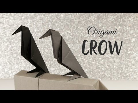 Perching Origami Crow Tutorial ❖ Halloween DIY ❖ Paper Kawaii - how to make halloween decorations youtube