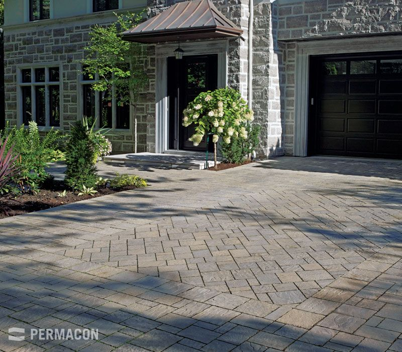 Garage entrance with different installation pattern | outdoor ...