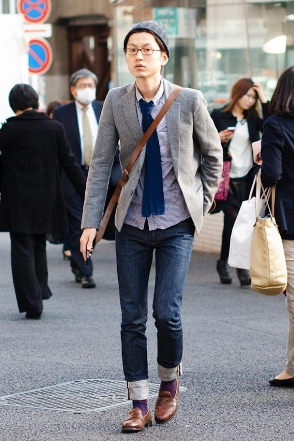 Preppy Style & messenger bag #mens #glasses #streetstyle http ...