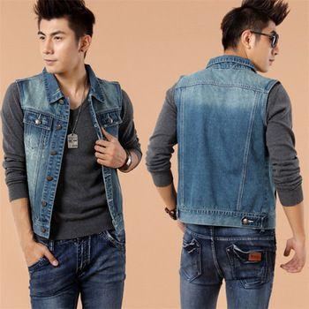 jeans and vest look men - Buscar con Google