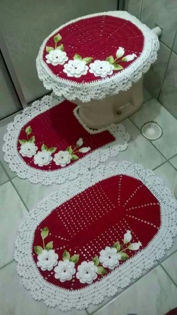 Jogo De Banheiro De Croche Com Graficos Passo A Passo Jogos De Banheiro Jogos De Banheiro Croche E Jogo Banheiro Croche Grafico