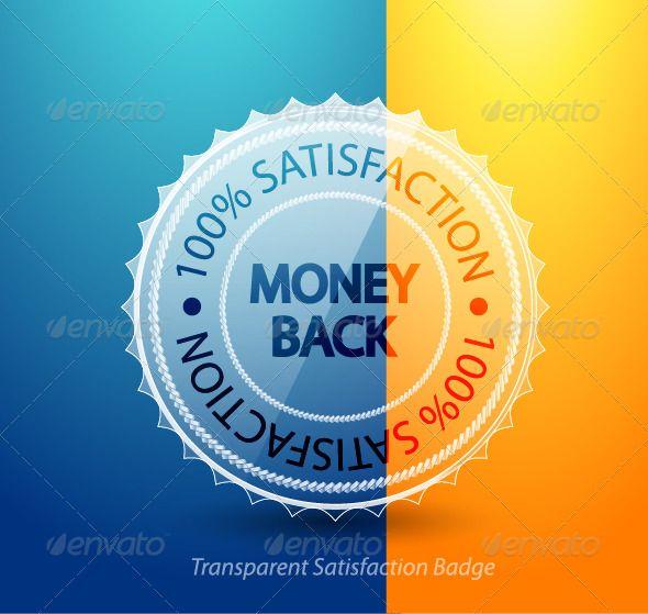 Money Back Guarantee Badge Badge Vector Graphics Design Template Design
