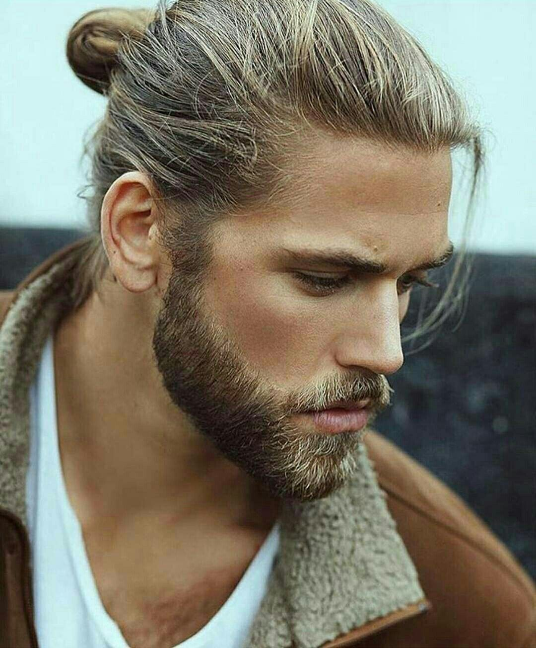 Pin By Deara Zijmers On Men With Beard Bun And Tattoo