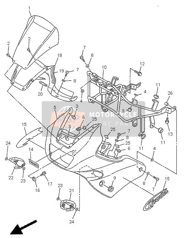 COWLING 1 for 1998 Yamaha XJ600S DIVERSION